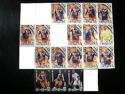PANINI ADRENALYN XL FOOT 2016-2017 - MONTPELLIER EQUIPE  - 17 cartes
