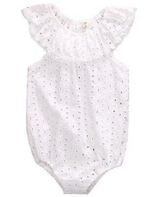 Brand New Baby Girl White Lace Romper - Size 12-18 Months