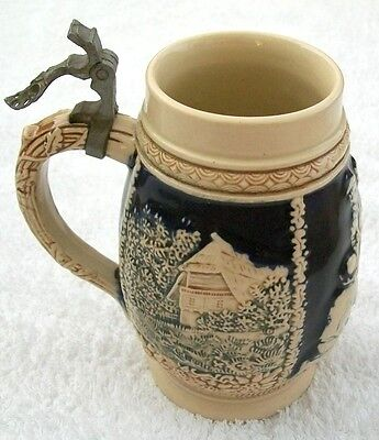 Vintage Marzi & Remy Egg Shaped German Beer Stein, 3044, 15cm, 1950s/60s