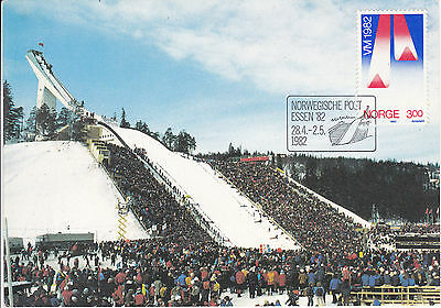1982 Norway First Day cover FDC Wold championship VM Ski jumping postcard