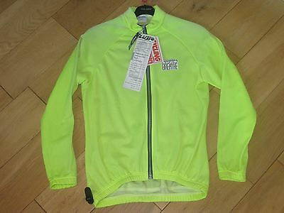 NEW Lusso Breathe Fleece Jacket Top Cycling Running fluorescent SMALL S NOS