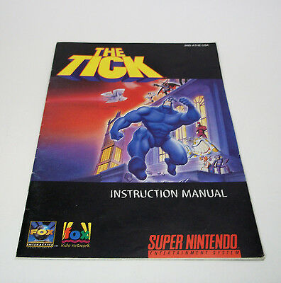The Tick SNES Manual Video Game Instruction Booklet Super Nintendo Fox 1994 Book
