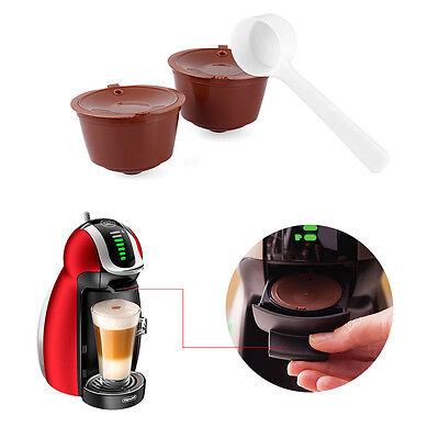 2 Refillable Reusable Coffee Capsule Pods Cup for Nescafe Dolce Gusto Machine