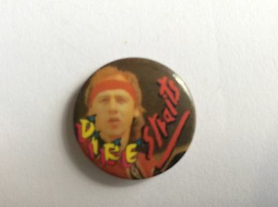 Button POP BADGE From The 80s DIRE STRAITS Banbury Badges made in England