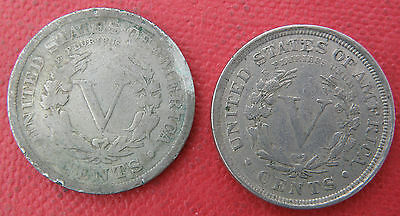 2 X Usa V. Cents./ Dated 1899 And 1901. The 1901 Is In Very Fine + Grade.