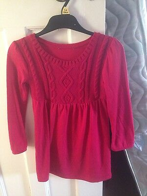 george girls red jumper dress age 4 to 5