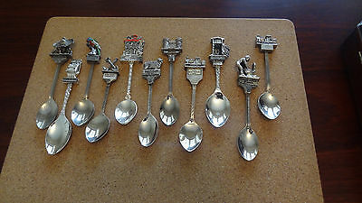 Australian Collector Silver Plated Spoons (11)