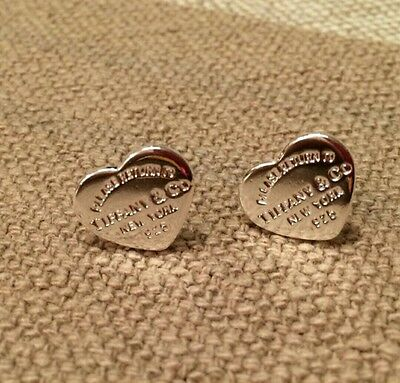 925 sterling silver plated heart earrings earstud friend birthday gift