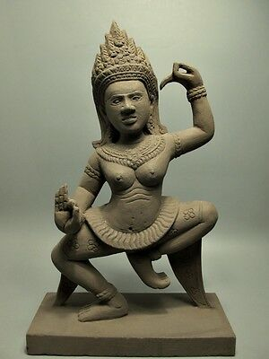 Khmer Sculpture Sandstone Figurines 'apsara Dance' Figure Angkor Cambodia 16Th C
