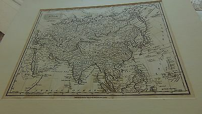 Early 19Th Century Map Of Asia Published By Thomas Kelly In Vgc