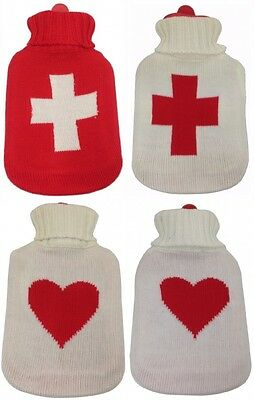 G101X Chic Hot water bottle with knitted cover M4