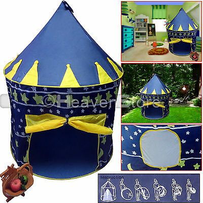 Kids Toddler Baby Pop Up Princess Castle Tent Indoor/Outdoor Children Play House