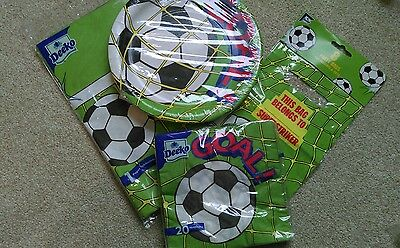 Football party tableware for 8 children - New
