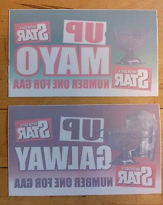 Up Galway & Up Mayo - Window Stickers