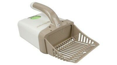 Neater Pet Litter Scooper with Attached Waste Bin & 15 Scented Bags - Tan