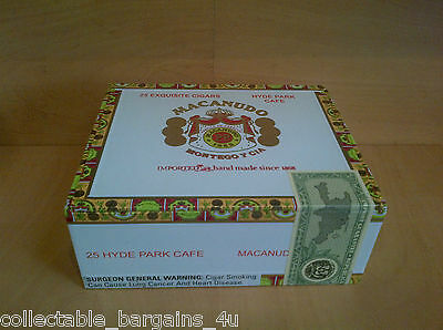 Cigar Box from Dominican Rep. for crafts jewellery trinket boxes Macanudo H. P.