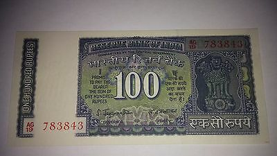 India 100 Rupees in UNC. Sign78