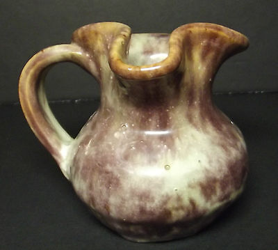 Vintage Ceramic Pottery Pitcher Miniature Hand Made American Folk Unsigned