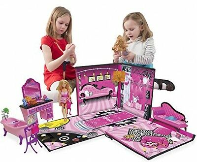 Barbie Zipbin Dream House Beautiful House Doll and Accessories Storage and Play