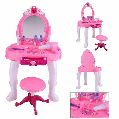 Toyrific Glamour Mirror Play Set Makeup Girls Kids Present Dressing Table Pink