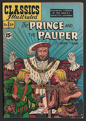 Classics Illustrated #29 HRN 93 VG 4.0 OW The Prince and the Pauper TWAIN