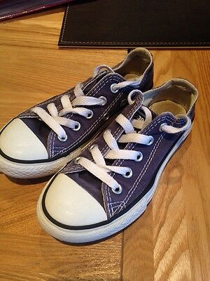 Childrens Blue Converse Size 10 (Unisex Boys Girls Shoes Trainers)