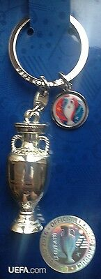 Euro 2016 Final Trophy Keyring England Wales Northern Ireland Spain Italy
