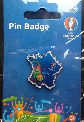 Euro 2016 Final Pin Badge France England Wales Northern Ireland Spain Italy