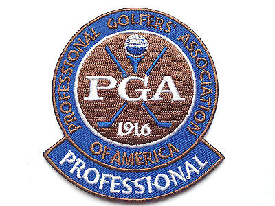 PGA Pro Golf Patch 3 Inch Embroidered Iron / Sew on Badge Applique Professional
