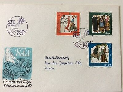 1st day cover Portugal Christmas 1974