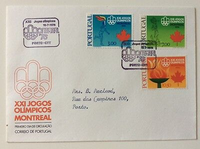 1st day cover Portugal 21st Olympic Games Montreal 1976