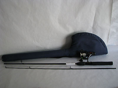 Vintage Shakespeare Fishing Rod & Reel Combo W- Carry Case- New