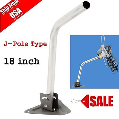 18 Inch Mount Mounting Pole Mast For Antenna Satellite J-Mount Dish Outdoor Vip