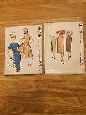 McCall Vintage Sewing Patterns, lot of 2