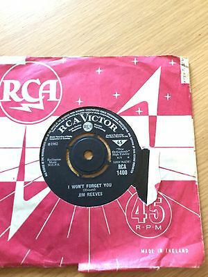 Jim Reeves - I Won't Forget You/a Stranger's Just A Friend - Vinyl Single Record