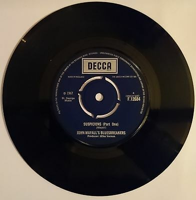 "John Mayall'S Bluesbreakers 7"" Single "" Suspicions (Part One)"" Decca F.12684"