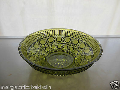 "Indiana Federal Glass Green Windsor 7 1/2"" Bowl"