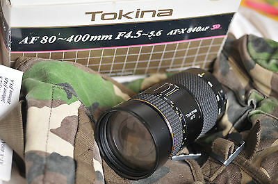 Objectif Zoom PRO Tokina 80 400mm atx840AF SD pour CANON  Lens