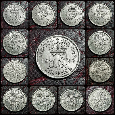 "UK BRITISH ""LUCKY"" SIXPENCE 6d COIN. CHOOSE YOUR YEAR. WEDDING BIRTHDAY GIFTS"