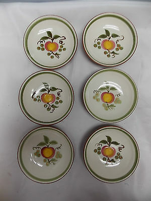 6 Stangl Small Dessert/Sauce Bowls in Apple Delight Pattern