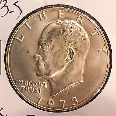 1973-S $1 Silver Ike Dollar [Auto. Combined Shipping](27348)