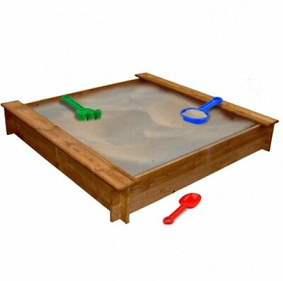 Kids Square Wooden Sandpit Outdoor Toy Children Boys Girls Play Digging Fun Gift