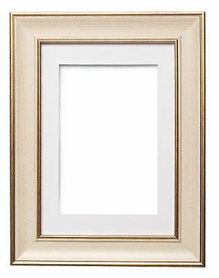 Shabby Chic Picture Frame, SC Photo Frame Poster Frame With Bespoke Mount  CREAM