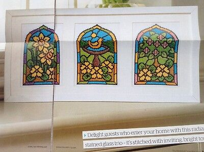 Cross Stitch Chart ~ Easter ~ Stained Glass Window Design/cards