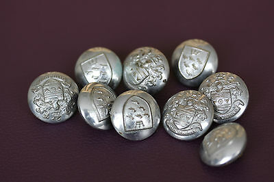Eastbourne Fire Brigade East Sussex Uniform Buttons X 9