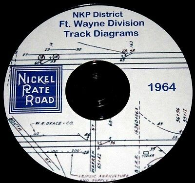 Nickel Plate Road NKP District-Ft. Wayne Division Track Chart Pages on DVD
