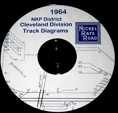 Nickel Plate Road NKP District Cleveland Division Track Chart Pages on DVD