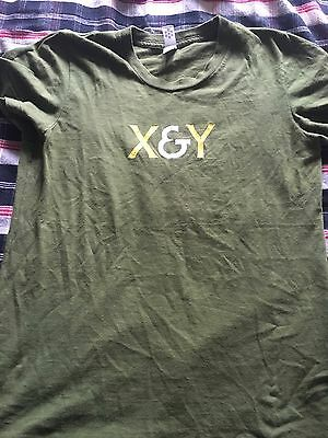Coldplay X & Y Glastonbury T shirt Size S