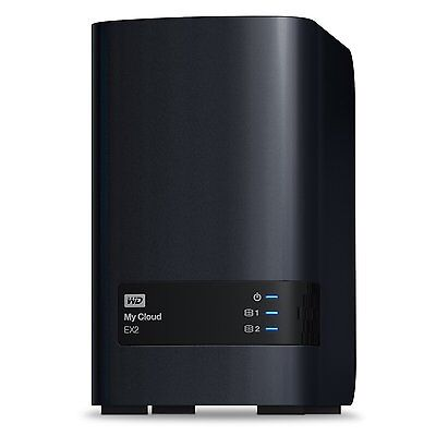 WD Diskless My Cloud EX2 Network Attached Storage NAS WDBVKW0000NCH-EESN Enclous