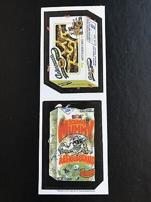 Topps Wacky Packages LOST WACKYS GREEN REPLACEMENT PACK Double Vertical Strip